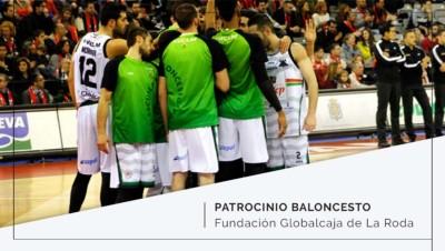Patrocinio al equipo de baloncesto Fundación Globalcaja de La Roda