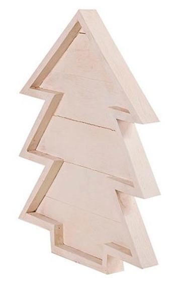 Árbol para Navidad con madera de palets