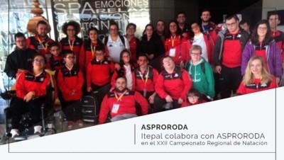 Itepal colabora con ASPRORODA en el XXII Campeonato Regional de Natación