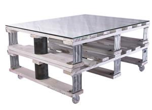 Mesa industrial con palets para el estilo de tu hogar