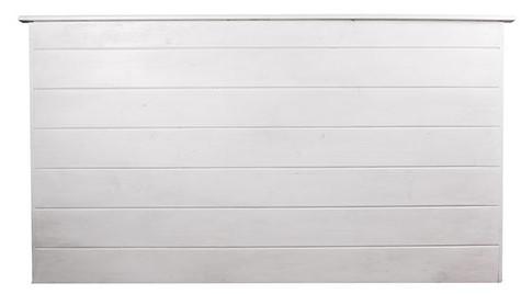 Cabecero de madera de palets lacado en blanco Crea