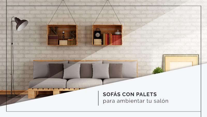 Sofás hechos con palets para interior y exterior