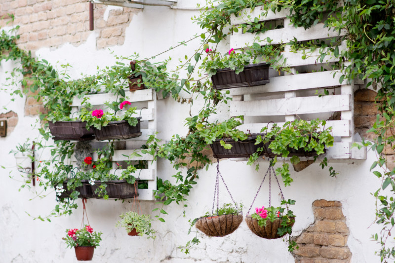 Ideas para jardín con palets