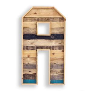 letras de madera natural