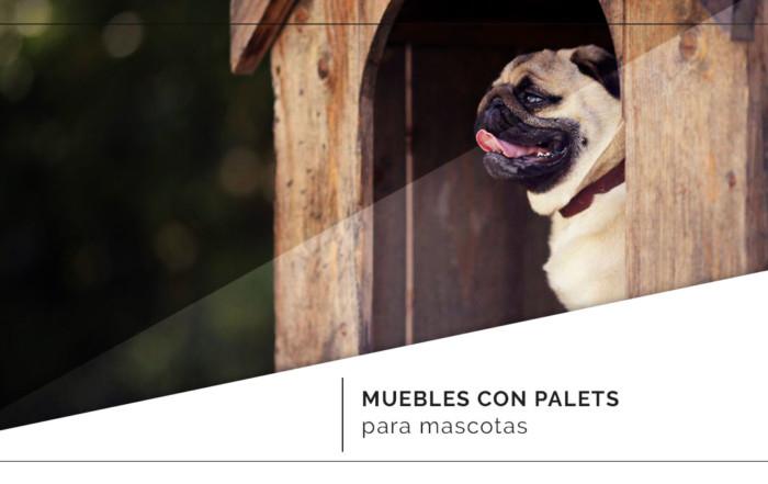 Muebles fabricados con palets para tus mascotas