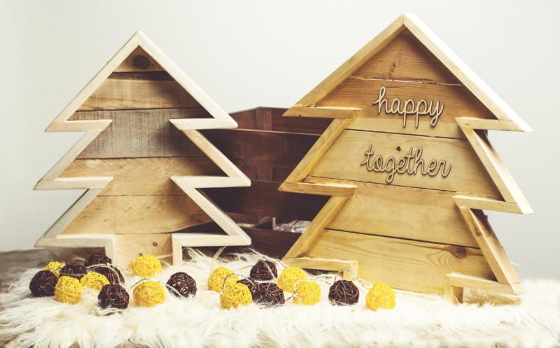 Abeto de Navidad hecho con madera de palets reciclados