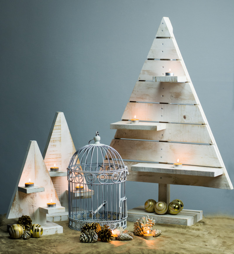 Árbol de Navidad hecho con palets: abeto 6