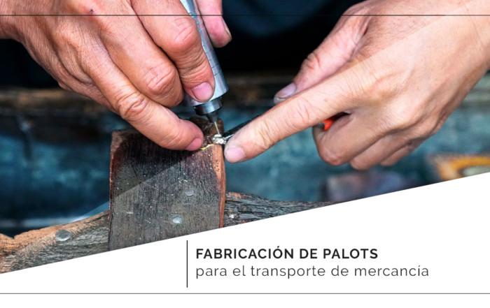 Fabricación de palots para el transporte de mercancía