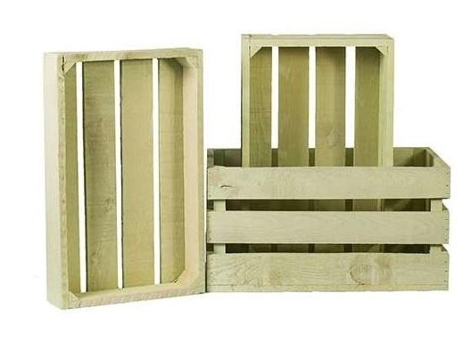 Decoración de eventos con cajas de madera