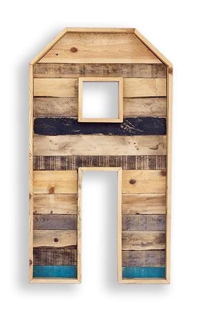 Letra de madera para decoración