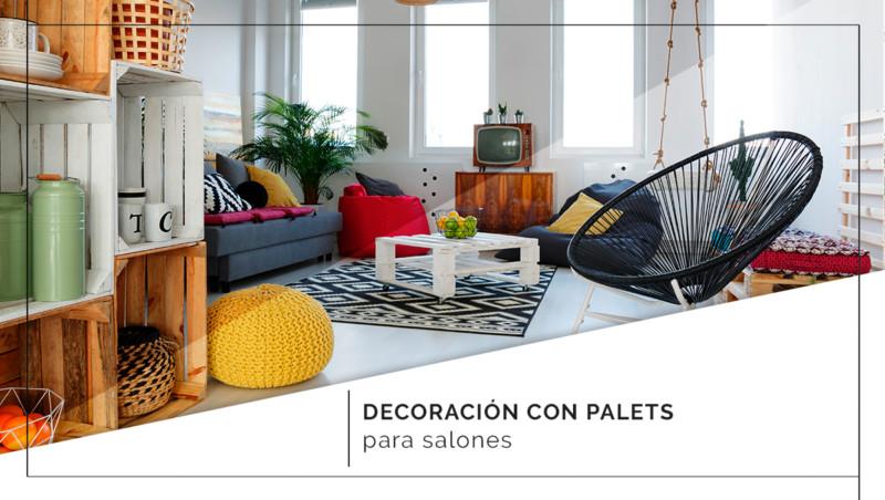 Decoración con palets para salones