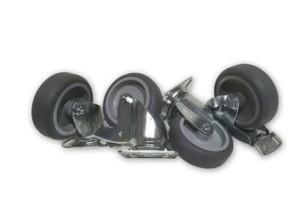 Pack de ruedas giratorias para palets