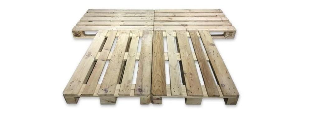 Cama fabricada con palets de madera