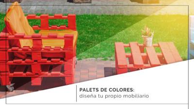 Palets de colores: diseña tu propio mobiliario